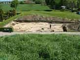 Udgravningsområdet i Jelling.