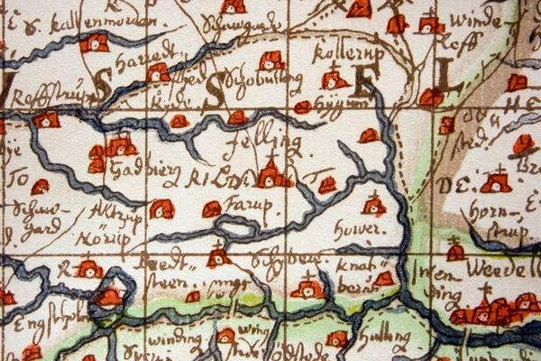Johannes Mejers Kort Over Det Danske Rige 1659 Jellingprojektet