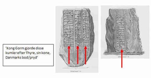 Læseretningen på Kong Gorm den Gamles sten, den lille Jellingsten