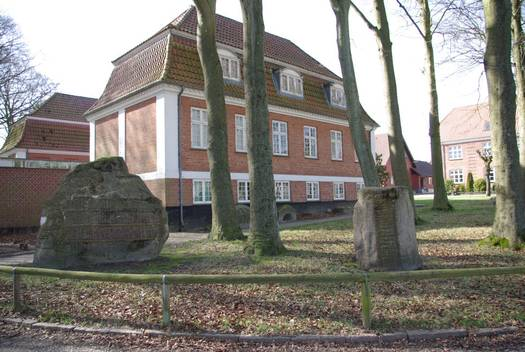 Replicas of Harald Bluetooth's and King Gorm's rune stones in Jelling, donated to Varde Museum by Cornelius Stau. Photo: Lene B. Frandsen, Varde Museum.
